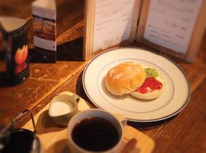 ジャムバーガー+コーヒー