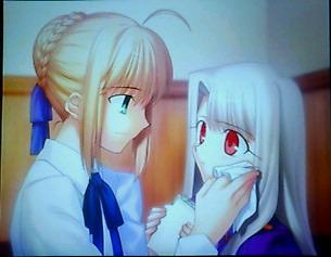 Fate staynight セイバー&イリヤ