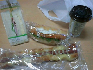昼食のパン