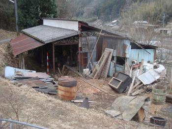 牛小屋解体