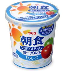 朝食プロバイオティクスヨーグルト りんご