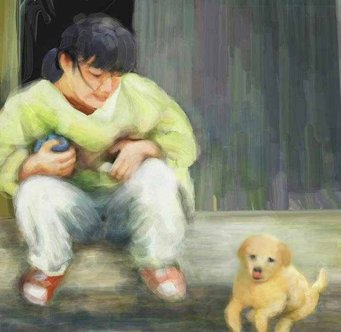 犬絵 想い出・・・。 700A2