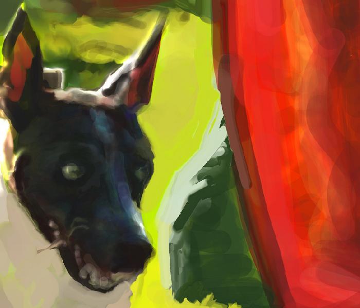 犬絵 アジる つるつるハウンド700zu-mutyuuto