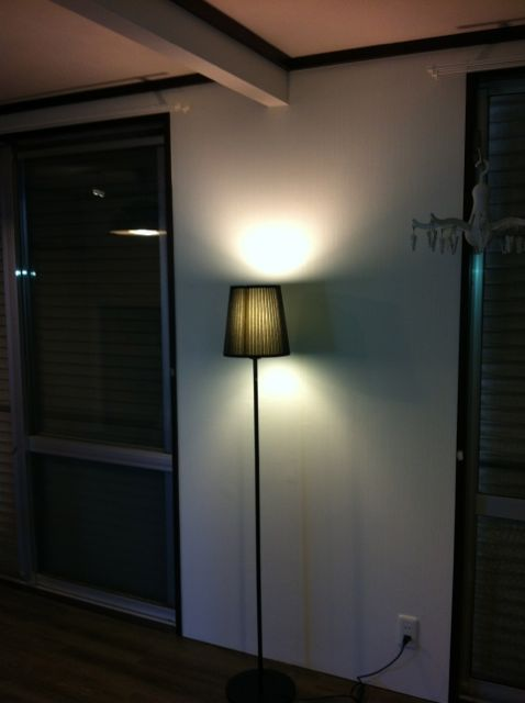 照明 スタンド黒