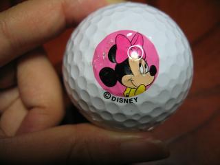 ミニーのゴルフボール