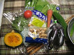 くるみのご飯の食材たち。