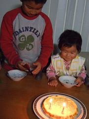 冬麻2歳の誕生日ケーキ③