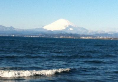 海からの富士