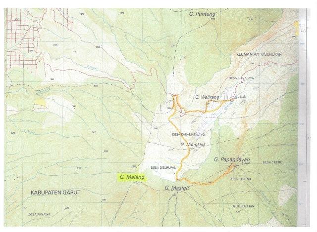 Papandayan 地図3