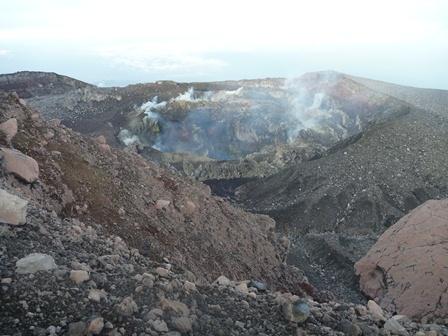 2009年に噴火した火口