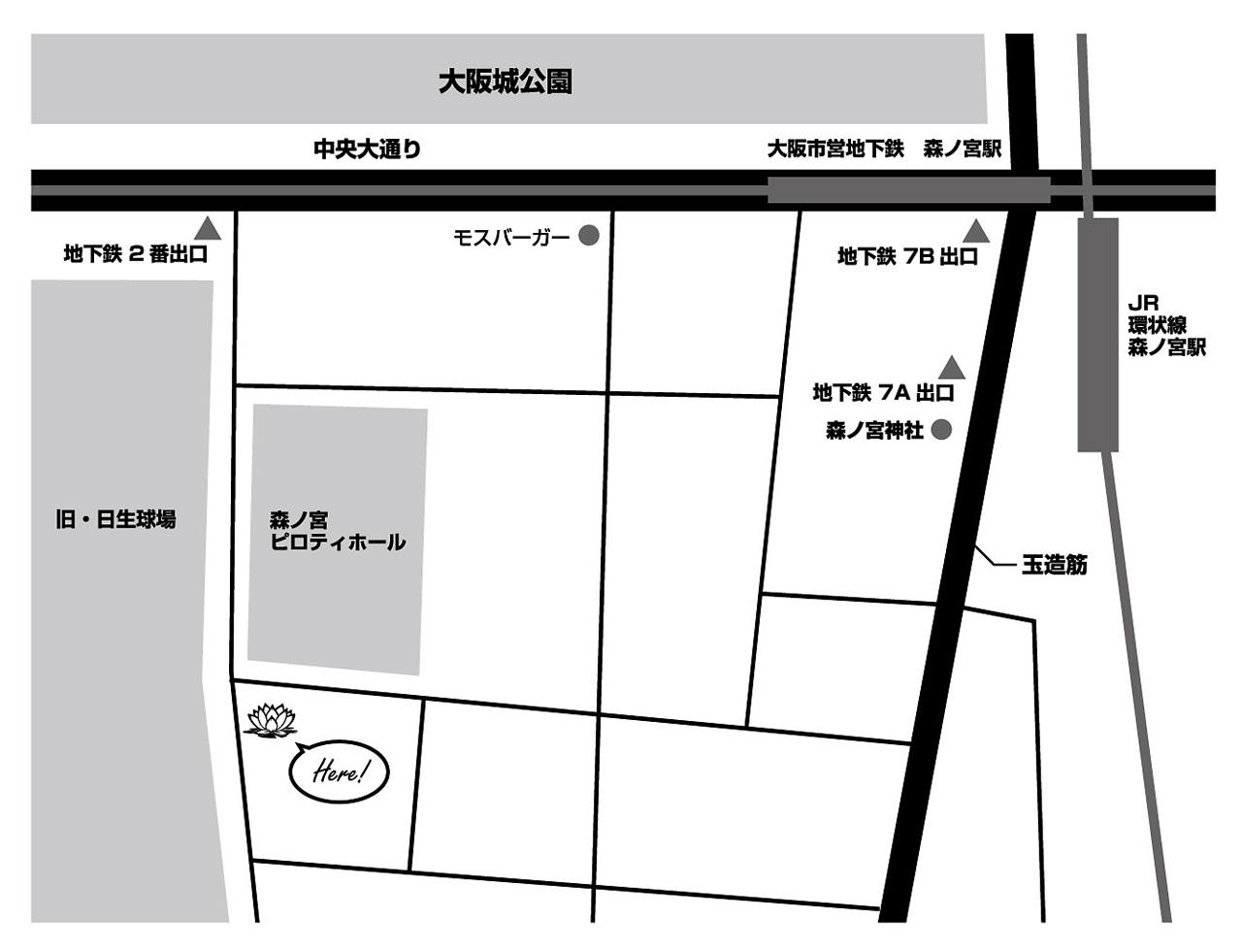 LOTUS SPACE yoga&rental studio の地図