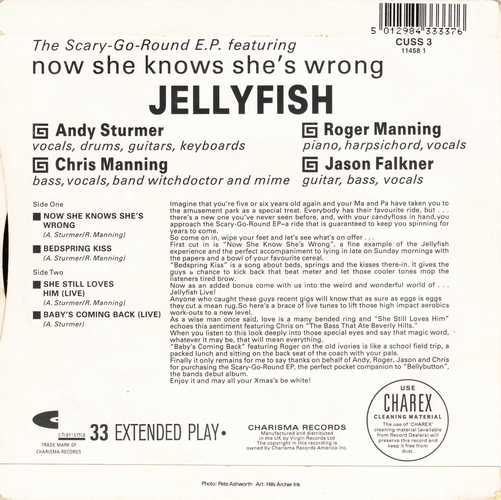 Jellyfish - The Scary-Go-Round E.P Jacket Back