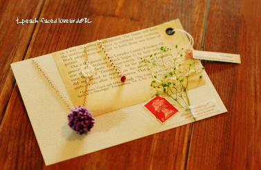 小花ネックレス3