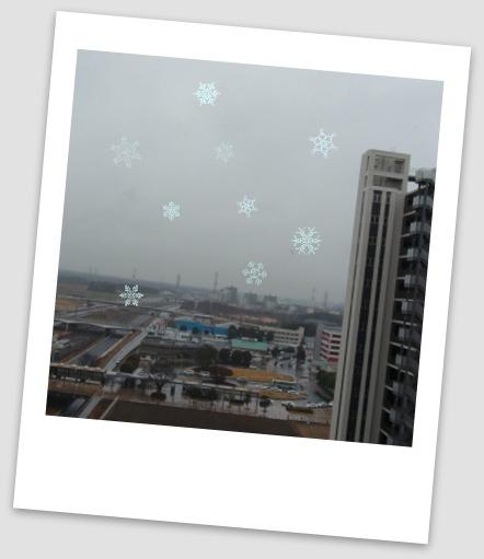 雪ちらつき