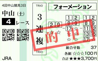 中山4R3連複