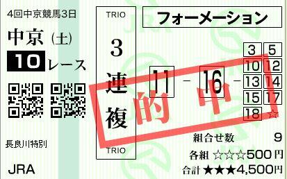 中京10R3連複