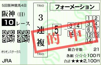 阪神10R3連複