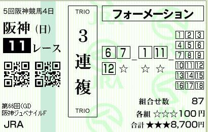 キャプチャ阪神11R