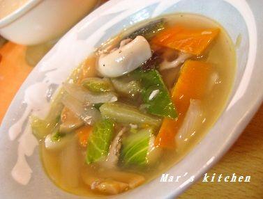 4-14 八宝菜スープ