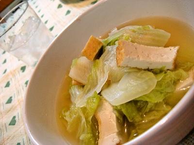 4-15 白菜と厚揚げの煮びたし