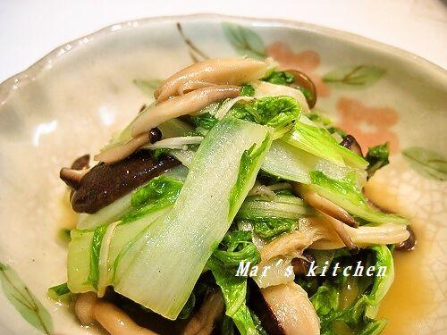 山東菜の炒めもの