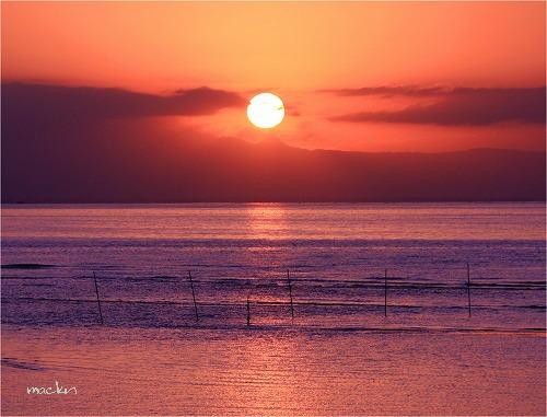 真玉の夕陽