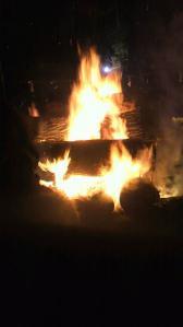 石上神宮の炎