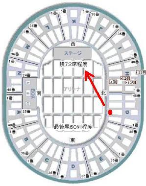大阪城ホール 座席表!