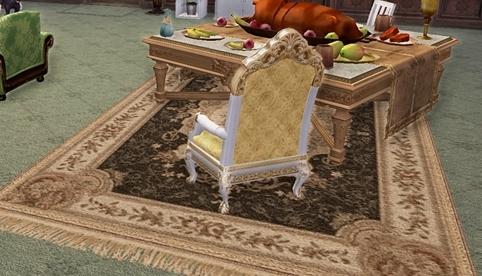 椅子と絨毯