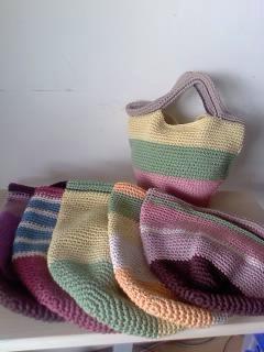 コットン糸のバッグ(061)