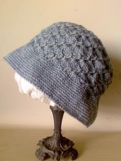 サックスブルーの帽子(060)