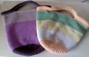コットン糸のバッグ(061)-1