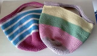 コットン糸のバッグ(061)-2