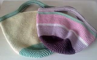 コットン糸のバッグ(061)-3