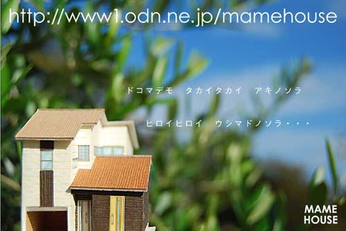 ミニチュアサイズの家模型
