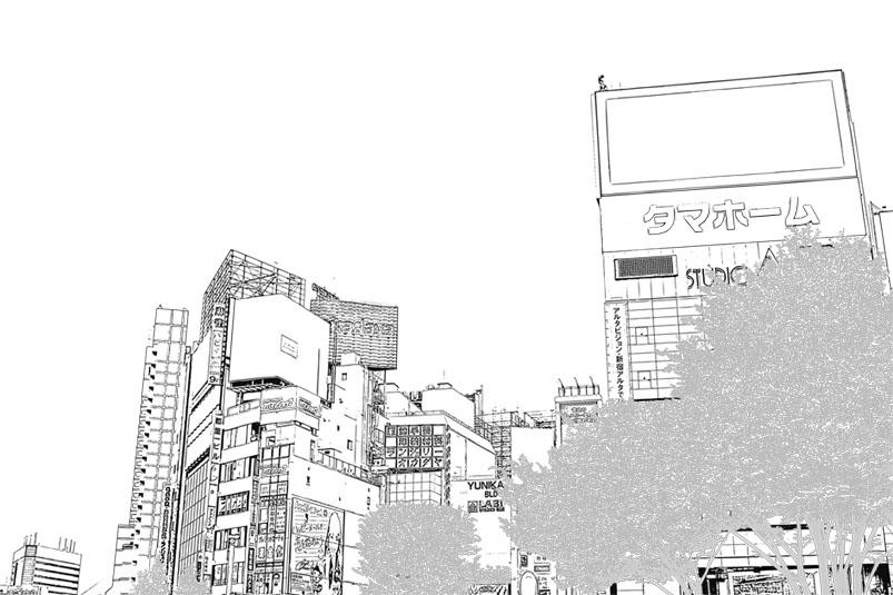 漫画背景新宿001