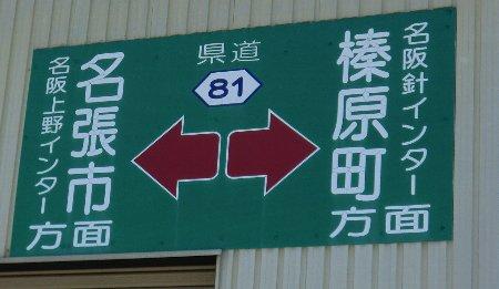 県道81号カンバン