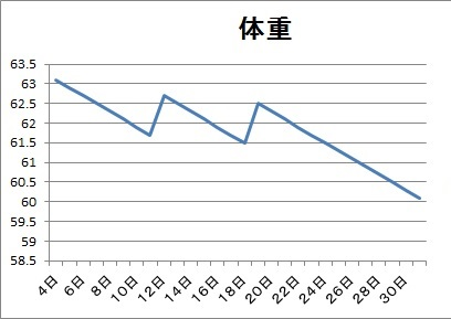 今月理想のグラフ