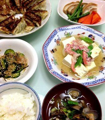 1月14日餃子付き晩御飯