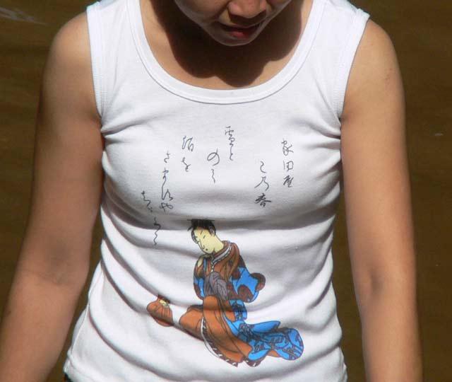 日本模様のTシャツ