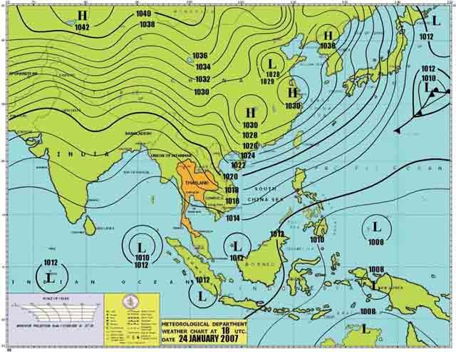 天気図 2007.1.25