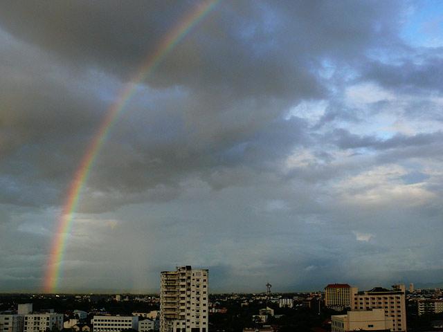 チェンマイの虹