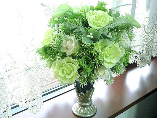 グリーン花瓶