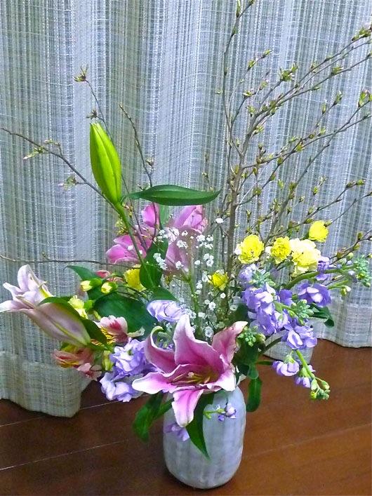退職祝い花②