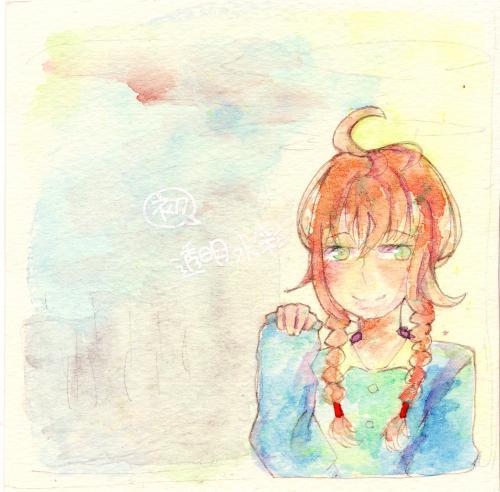 女の子(水彩)