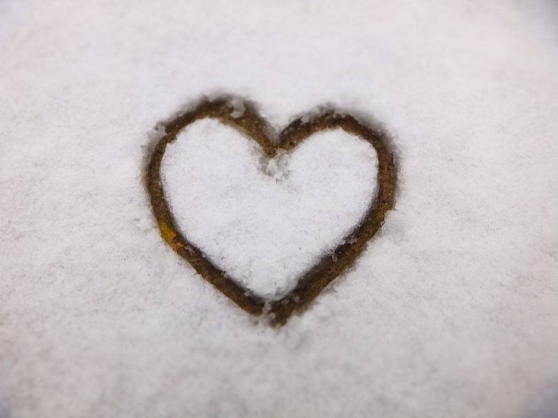 2014初雪 ハート
