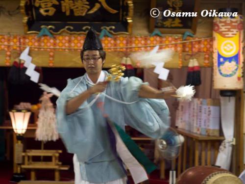 上ノ国町 石崎八幡神社 神楽舞 弓 神遊舞