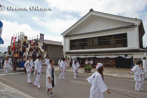 姥神大神宮渡御祭 2012 下町巡幸 山車 新栄山