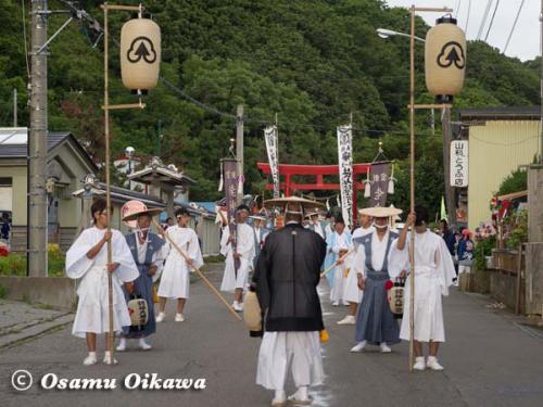 姥神大神宮渡御祭 2012 下町巡幸 行列先頭