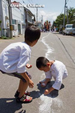 姥神大神宮渡御祭 2012 上町巡幸 子供たち